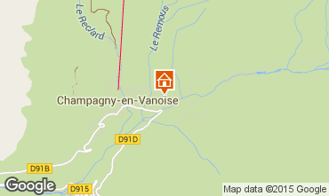 Carte Champagny en Vanoise Appartement 588