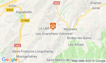 Carte Valmorel Gite 108304