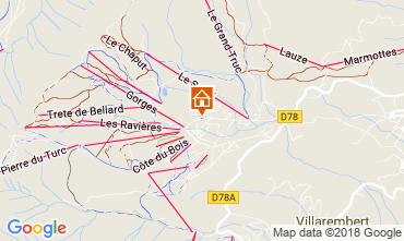 Carte La Toussuire Chalet 52378