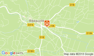 Carte Ribeauvillé Gite 113164