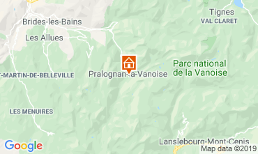 Carte Pralognan la Vanoise Appartement 2280