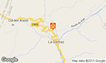 Carte La Giettaz en Aravis Appartement 62998