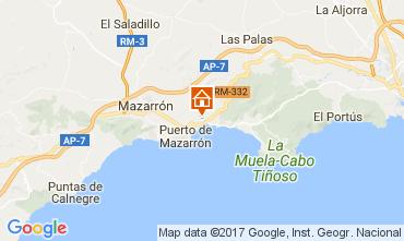 Carte Puerto de Mazarrón Appartement 112636