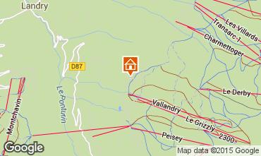 Carte Peisey-Vallandry Chalet 74279