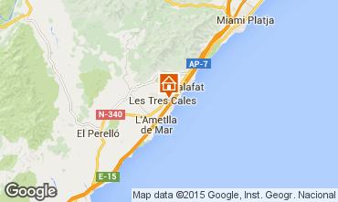 Carte La Ametlla de Mar Villa 39360