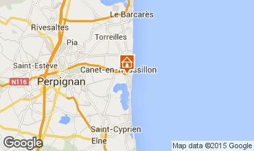 Carte Canet-en-Roussillon Appartement 53337