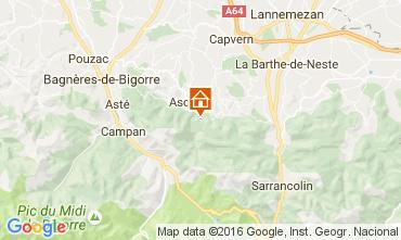 Carte Bagnères de Bigorre Gite 76174