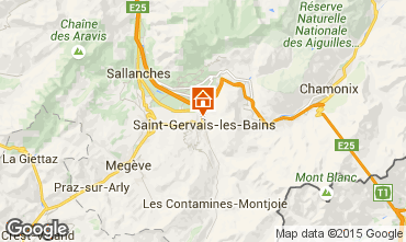 Carte Saint Gervais Mont-Blanc Appartement 2626