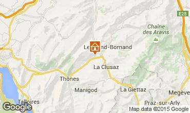 Carte La Clusaz Chalet 92319