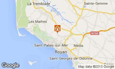 Carte Saint Palais sur Mer Mobil-home 75366