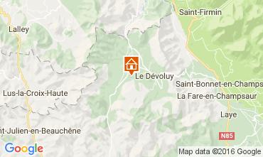Carte Superdévoluy- La Joue du Loup Chalet 75135