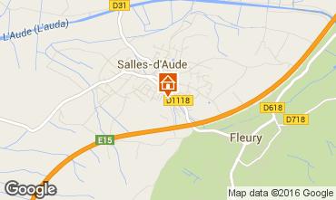 Carte Salles-d'Aude Gite 82952