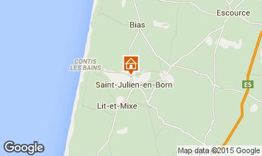 Carte Saint-Julien-en-Born Mobil-home 96438