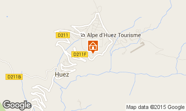 Carte Alpe d'Huez Studio 38587