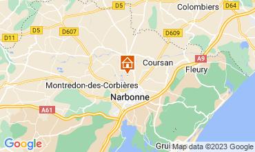 Carte Narbonne Gite 94627