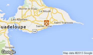 Carte Sainte Anne (Guadeloupe) Bungalow 8026