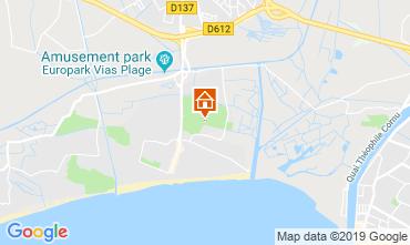 Carte Vias Plage Mobil-home 115374