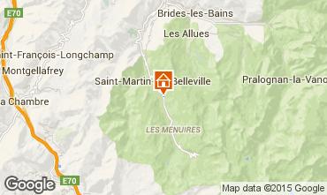 Carte Saint Martin de Belleville Chalet 2665