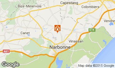 Carte Narbonne Gite 92003