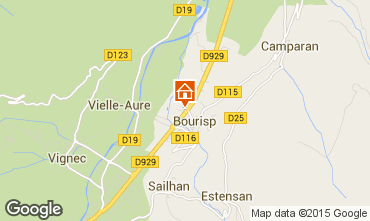 Carte Saint Lary Soulan Gite 63713