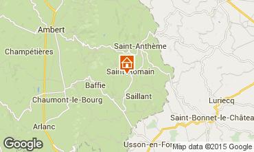 Carte Saint-Anthème Gite 85778