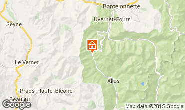Carte La Foux d'Allos Studio 91151