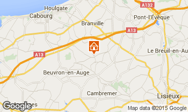 Carte Deauville Gite 16945