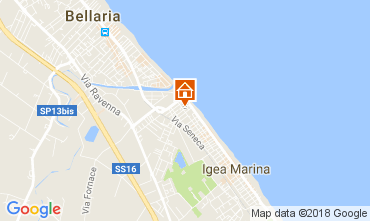 Carte Bellaria Igea Marina Appartement 45702