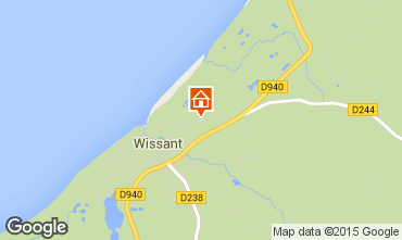 Carte Wissant Gite 8900