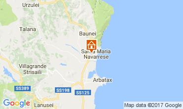 Carte Santa Maria Navarrese Villa 110022