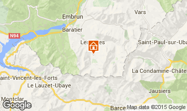 Carte Les Orres Chalet 38653