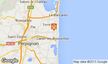 Carte Argeles sur Mer Gite 8683