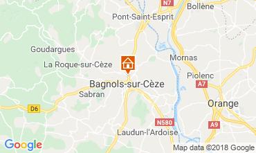 Carte Bagnols sur Cèze Gite 116366