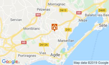 Carte Marseillan Villa 117376