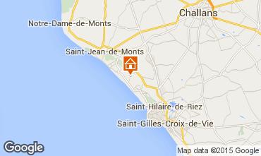 Carte Saint Jean de Monts Mobil-home 9432