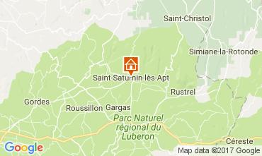 Carte Saint Saturnin les Apt Gite 103937