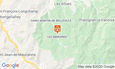 Carte Les Menuires Chalet 1618