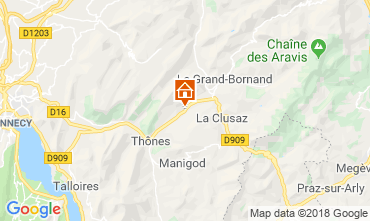 Carte La Clusaz Appartement 117583