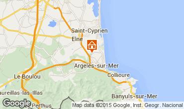 Carte Argeles sur Mer Mobil-home 9805