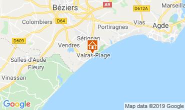 Carte Valras-Plage Appartement 93432