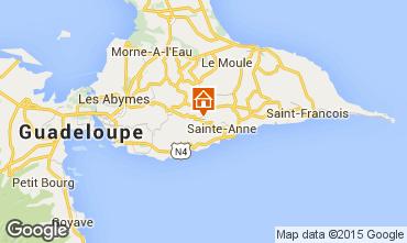 Carte Sainte Anne (Guadeloupe) Gite 60117