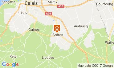 Carte Calais Gite 111466