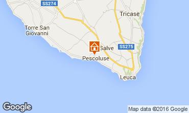 Carte Pescoluse Hébergement insolite 103154