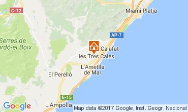 Carte La Ametlla de Mar Villa 110101