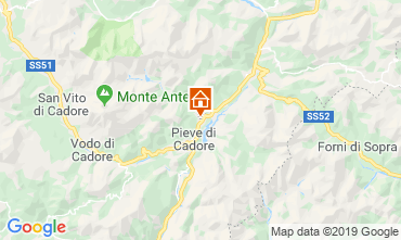 Carte Cortina d'Ampezzo Appartement 26458