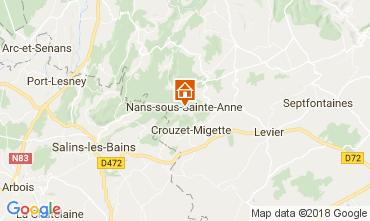 Carte Salins les Bains Gite 113029