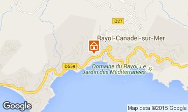 Carte Rayol Canadel sur Mer Appartement 10349