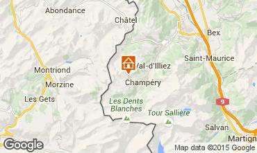 Carte Les Crosets Chalet 14794