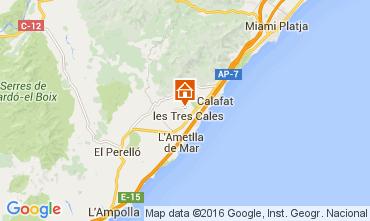 Carte La Ametlla de Mar Villa 39436