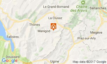 Carte Manigod-Croix Fry/L'étale-Merdassier Appartement 108269